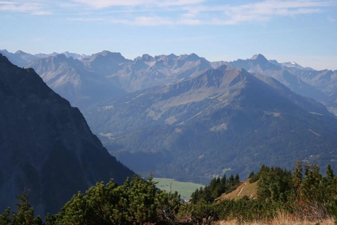 Blick in die Walsertaler Berge