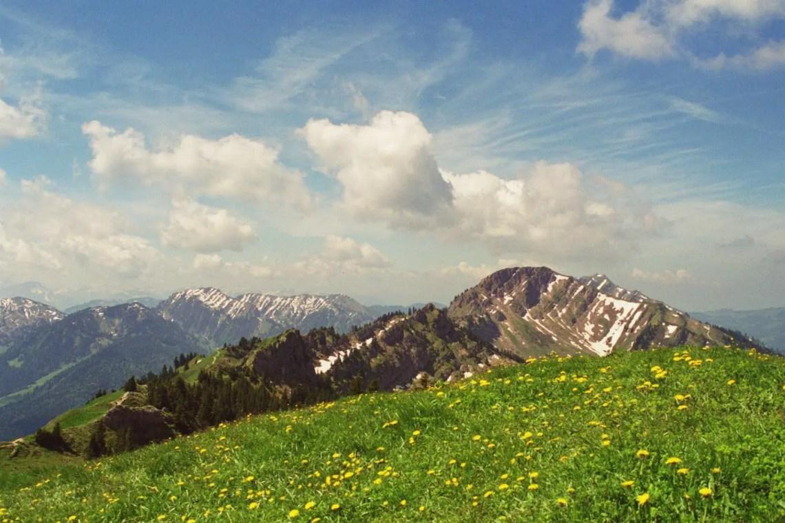 Steinberg Blick Richtung Hochgrat