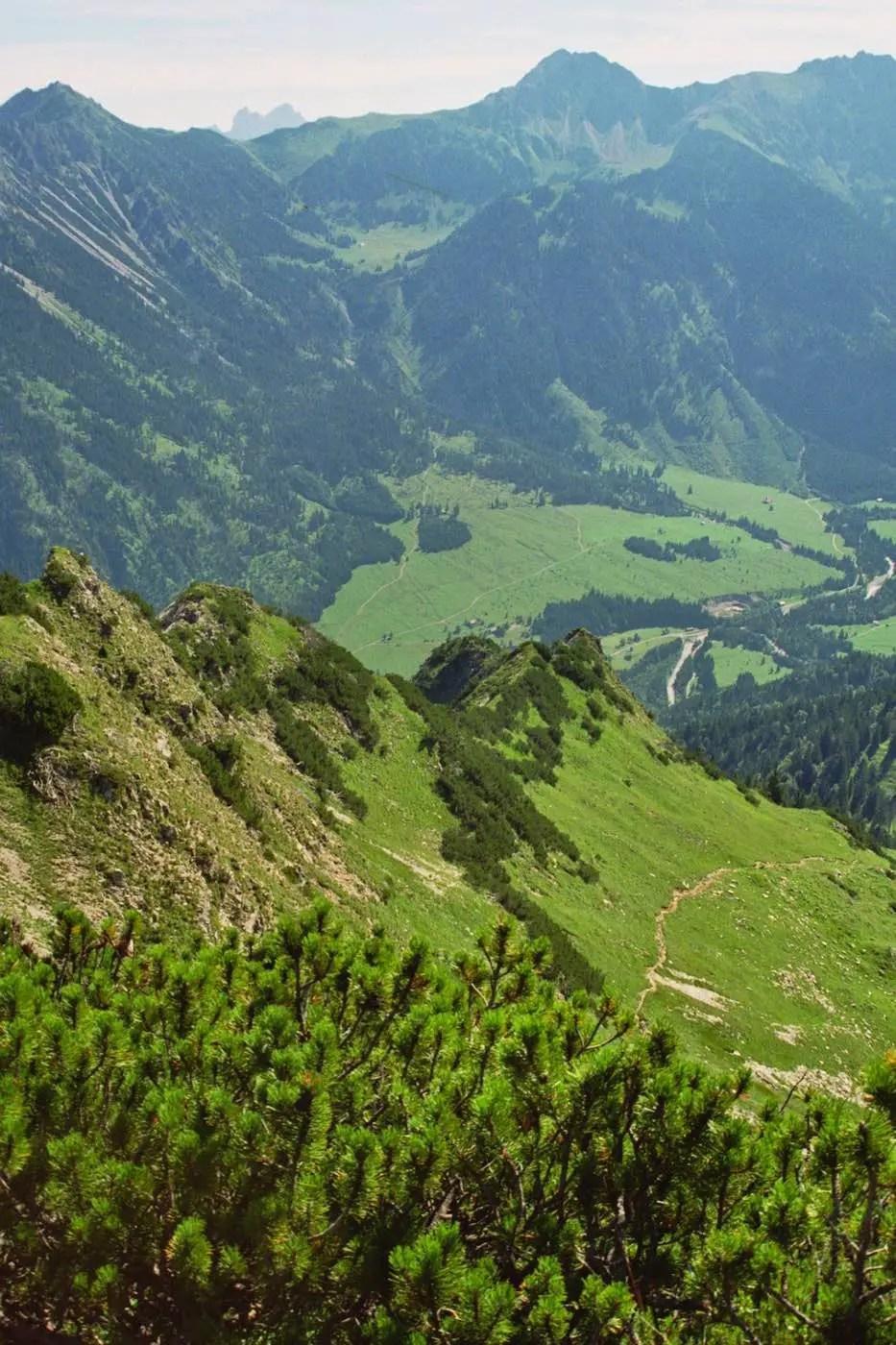 Abstieg nach Hinterstein