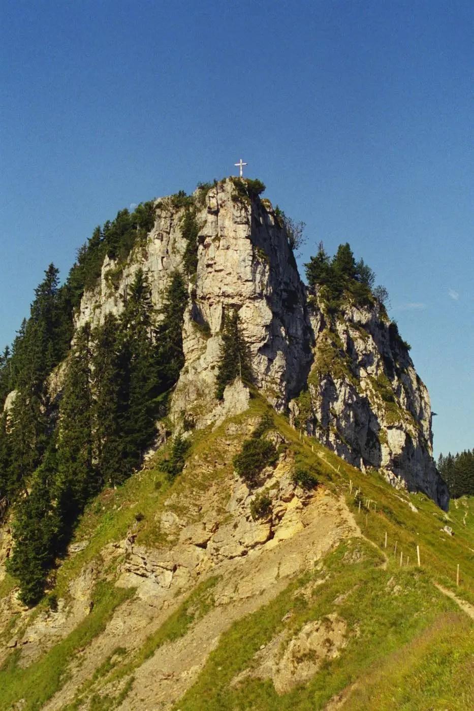 Besler Gipfel mit Kletterrinne