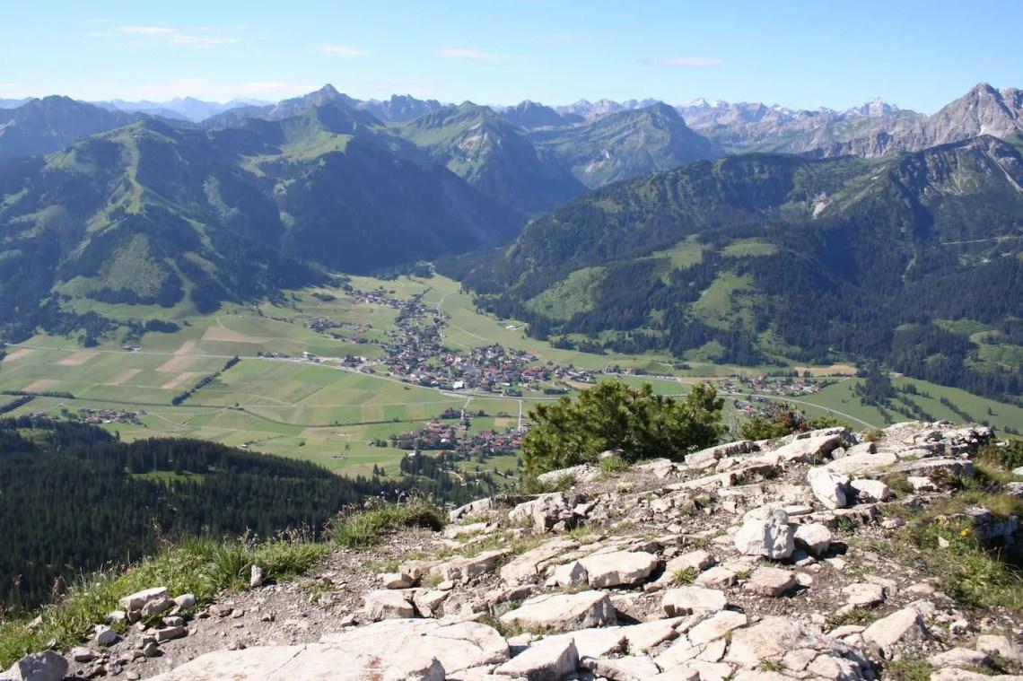 Blick auf Tannheim