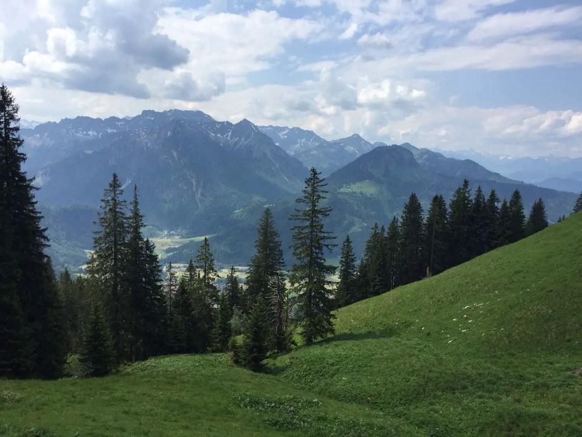 Auf der Hirschbergalpe, Blick ins Tal