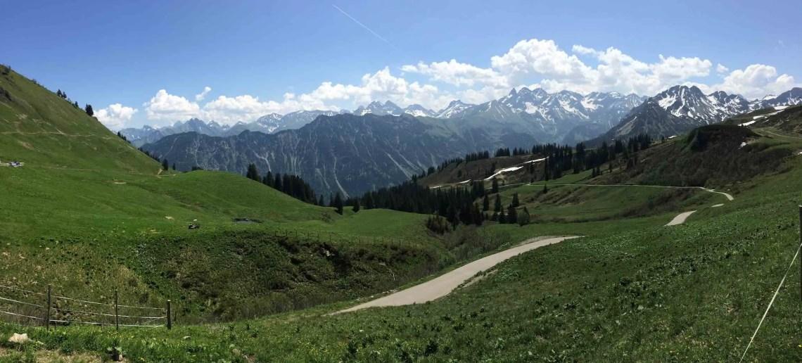 Panorama an der Alpe Schlappold