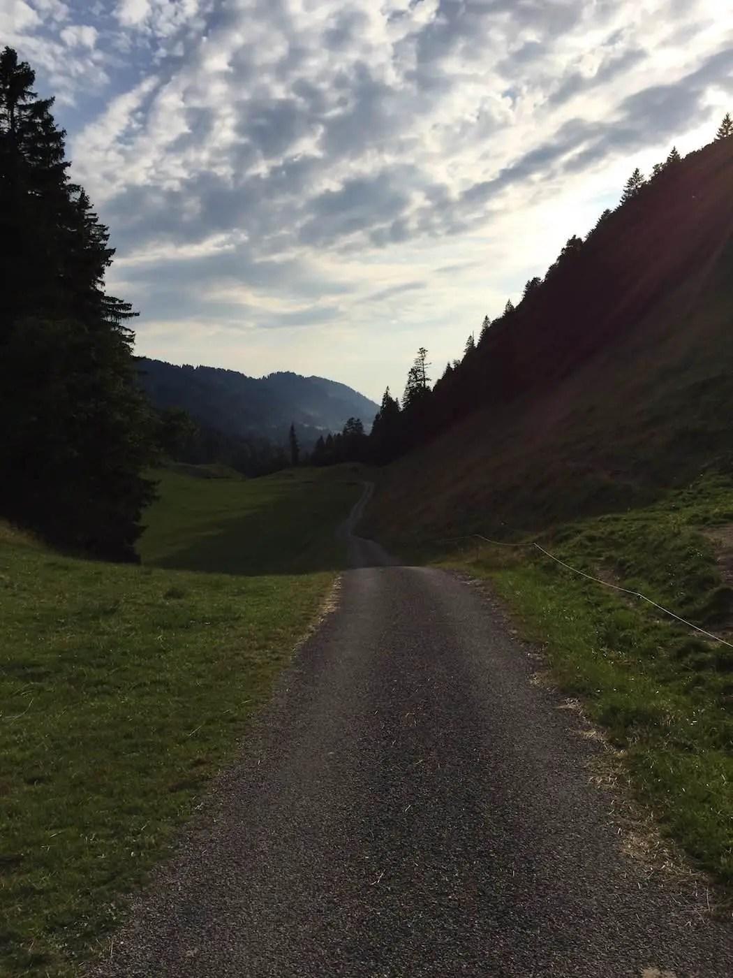 Weiterfahrt in Richtung Österreich