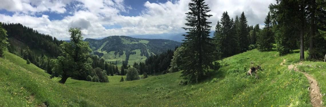 Panorama zwischen Hochhädrich und Falken