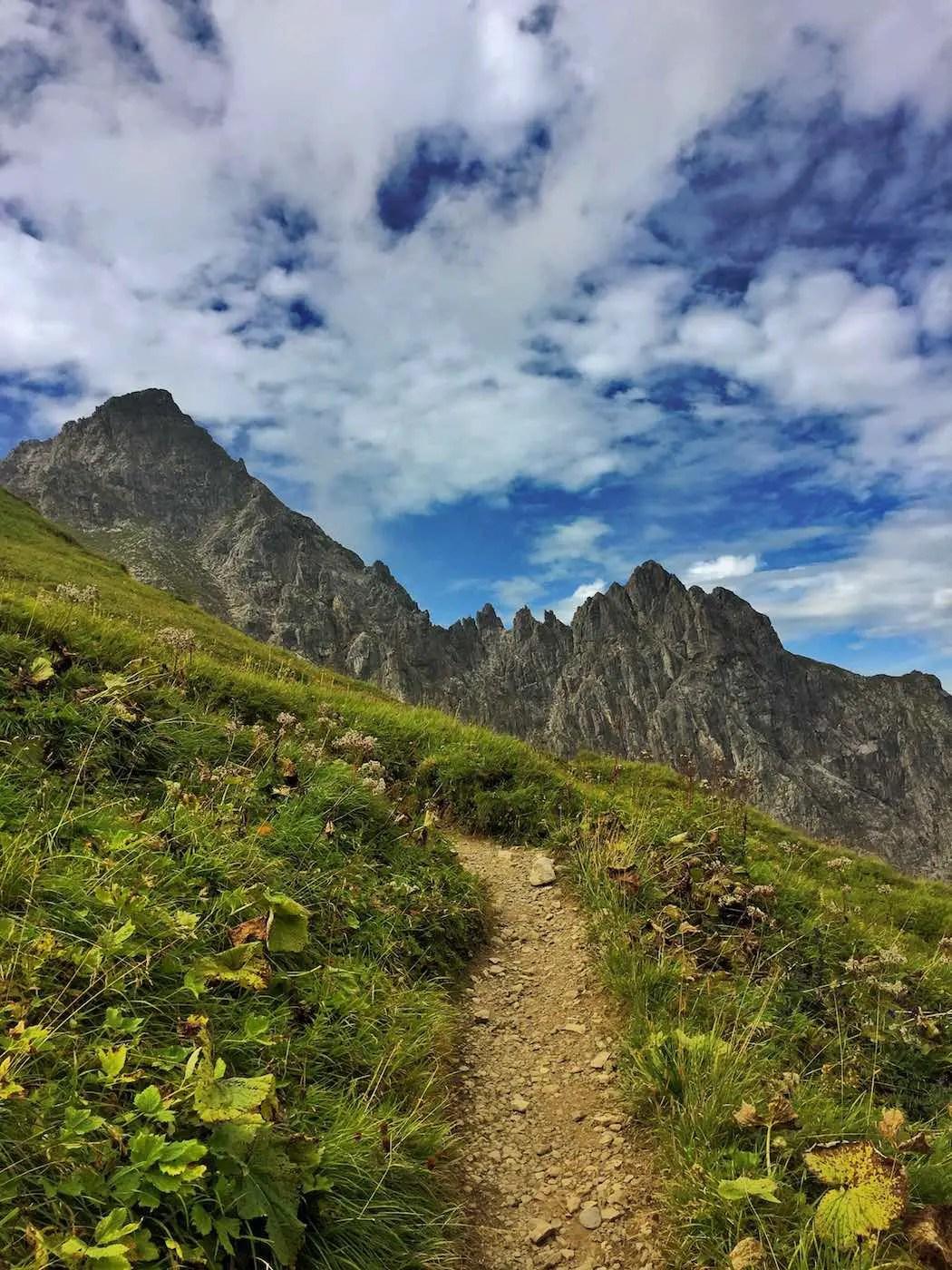 Aufstieg zur Fiderepass Hütte