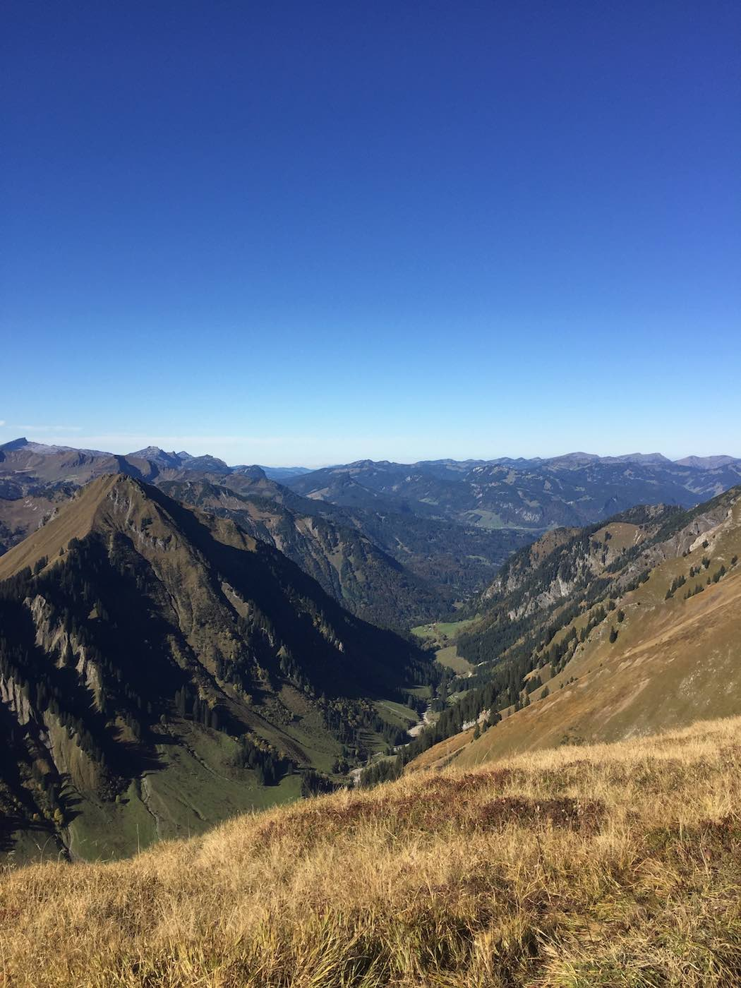 Blick hinunter ins Dietersbach Tal