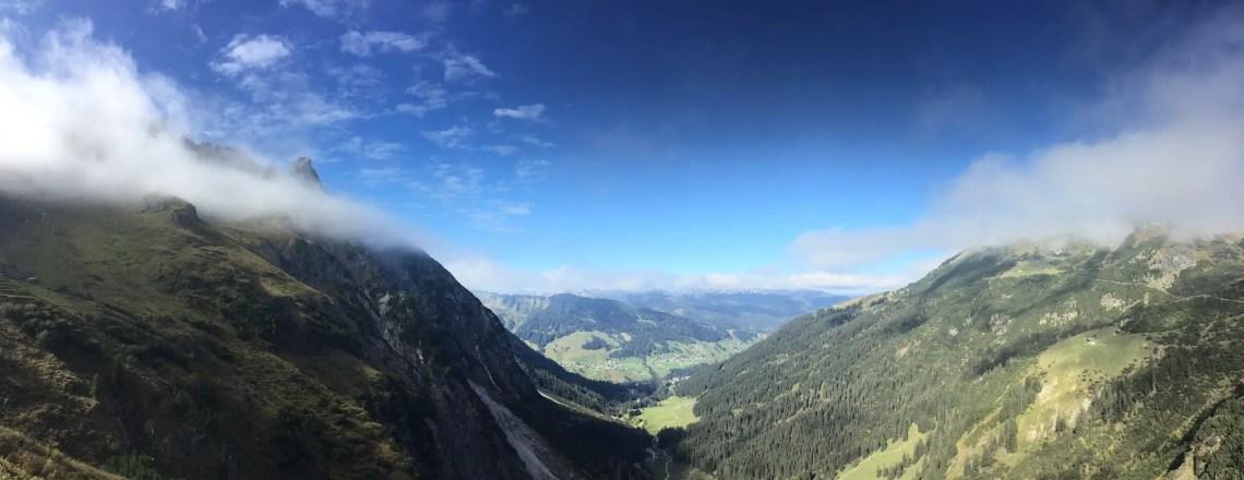 Panorama vom oberen in das untere Wildental