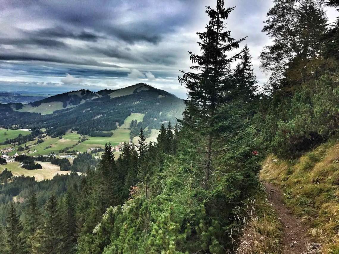 Sorgschrofen - Abstieg nach Jungholz
