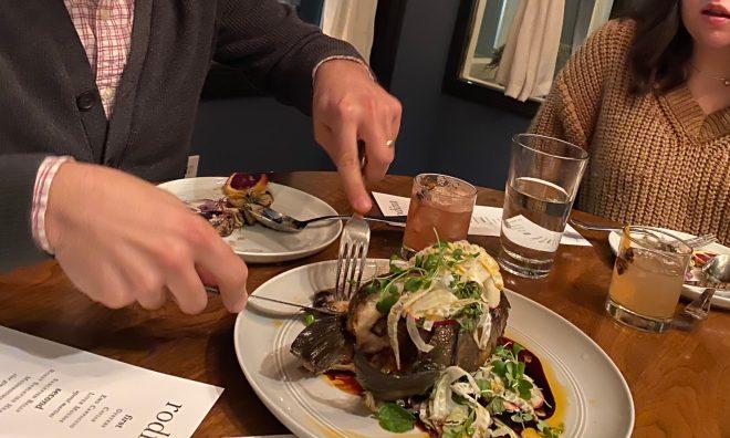 A meal at Rodina