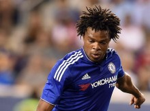 Chelsea's forward Loic Remy kicks the ball to score against the New York Red Bulls during their International Champions Cup match at the Red Bull Arena in Harrison, New Jersey, on July 22, 2015. AFP PHOTO/JEWEL SAMAD