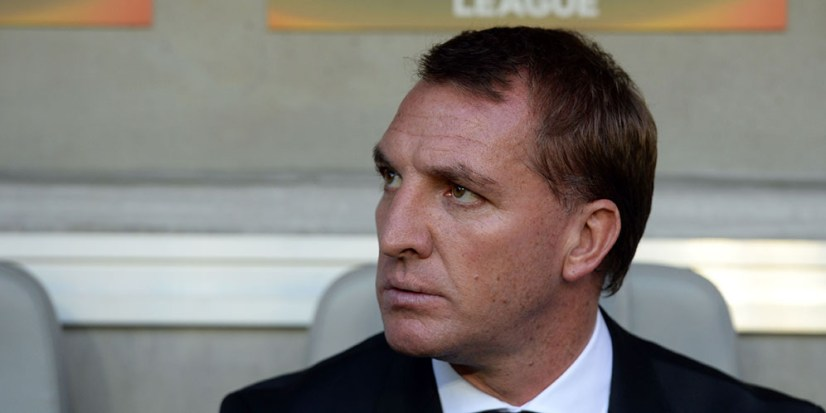 Liverpool's head coach Brendan Rodgers looks on during the group B, UEFA Europa League football match between Bordeaux vs Liverpool on September 17, 2015 at the Matmut Atlantique Stadium in Bordeaux. AFP PHOTO / NICOLAS TUCAT