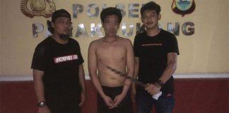 Pelaku penganiayaan Rahmat (20) saat diamankan Resmob Panakkukang.
