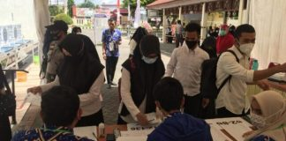 Peserta tes SKB CPNS Kabupaten Gowa. (Foto: berita.news/ist)
