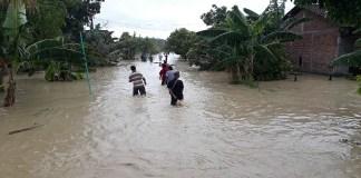 Tanggul Sungai Tuntang Jebol