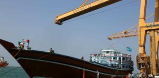 Kapal di Pelabuhan Hodeidah Yaman Foto: Alaraby.co