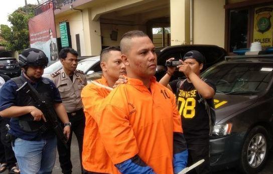 Dede Richo saat diamankan Polisi Tangsel.