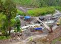 Proyek jembatan di kabupaten Nduga, Papua.