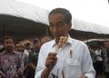 Presiden Jokowi jajan cireng di Kawasan Ciracas, Jakarta Timur.