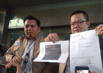 Tim Kampanye Nasional Jokowi – Maruf Amin melaporkan Wasekjen Partai Demokrat Andi Arief ke Bareskrim Polri, Kamis (3/1/2019).