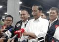 Presiden Jokowi saat jawab pertanyaan wartawan.