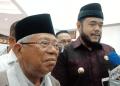 Ma'ruf Amin dan Wali Kota Padang Panjang Fadly Amran.