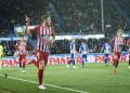 Para pemain Atletico Madrid luapkan kegembiraan usai kalahkan Alaves 4-0.