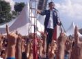 Jokowi saat bersilaturahmi dengan masyarakat Tapanuli Raya di Lapangan Siborong-borong Tapanuli Utara Sumatera Utara, Jumat 15 Maret 2019.