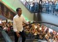 Jokowi saat berkunjung ke mal Grand Indonesia Jakarta, Sabtu (20/4/2019).
