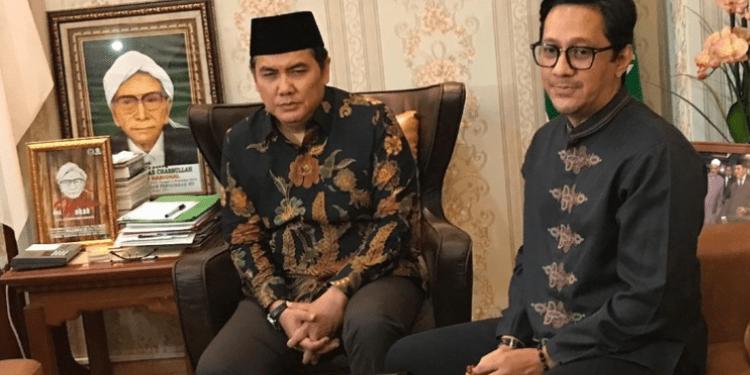 Andre Taulany Saat mendatangi Kantor Pengurus Besar Nahdlatul Ulama (PBNU), Jl. Kramat Raya, Senen, Jakarta Pusat.