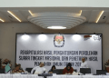 Rapat Rekapitulasi Penghitungan Suara Nasional di Kantor Komisi Pemilihan Umum (KPU) RI Jakarta.
