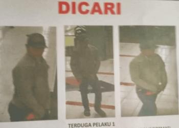 Polisi menyebarkan ciri terduga pelaku pembunuhan jurnalis yang didapat dari CCTV di rusun Sidotopo Wetan.