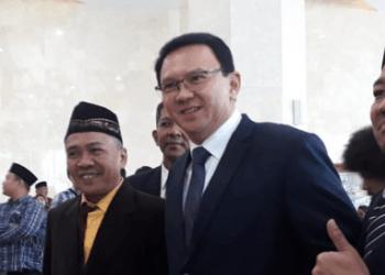 Ahok saat hadiri pelantikan DPRD DKI Jakarta.
