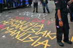 Street art buruh mayday 2013
