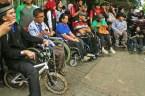 Penyandang disabilitas dengan kursi roda (Wheel Chair). ( Tajuk.co / Aljon Ali Sagara )