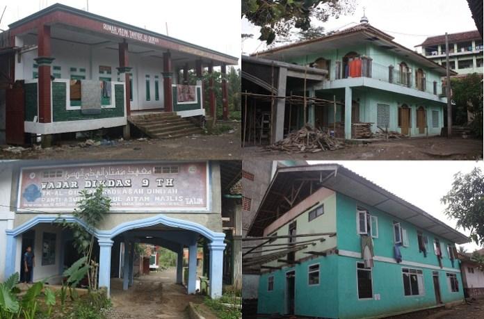 Bangunan bangunan di area Ponpes Al Musri Cianjur