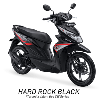 All New Honda BeAT eSP 2017 Warna Hitam tipe CW