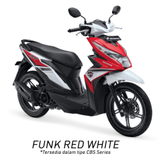 All New Honda BeAT eSP 2017 Warna Merah Putih tipe CBS