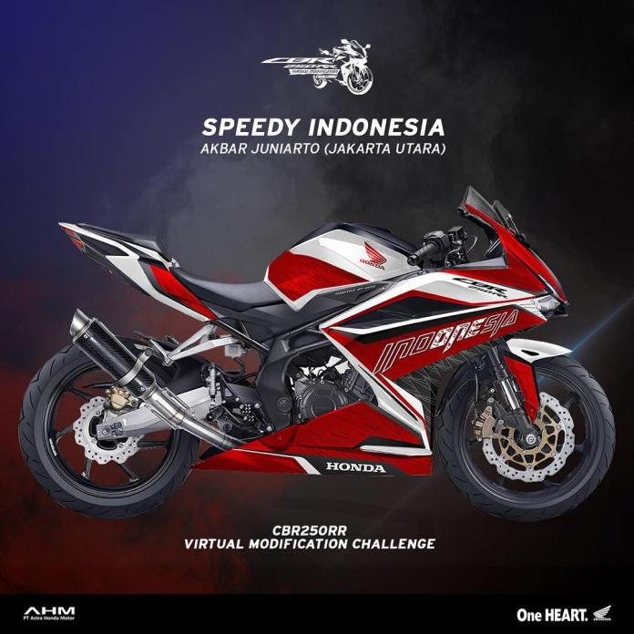 Modifikasi Striping CBR250RR