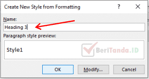 Create New Style from Formating