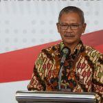 Juru Bicara Pemerintah untuk Penanganan Virus Corona,Achmad Yuriantodalam Konferensi Pers kepada Awak Media di Graha BNPB sore ini, Kamis, (9/4).