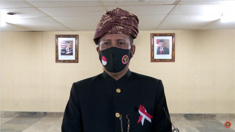 Kepala BNPT Boy Rafli saat hadiri acara Salam Indonesia Harmoni pada Minggu 14 Februari 2021 di TVRI. (Dok. Istimewa)