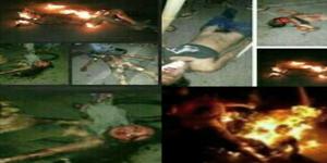 Mayat Pelaku Begal Motor Pondok Aren Yang Dibakar Hidup-Hidup Oleh Warga