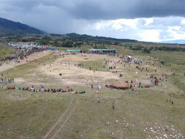 Lapangan tempat Festival lembah baliem