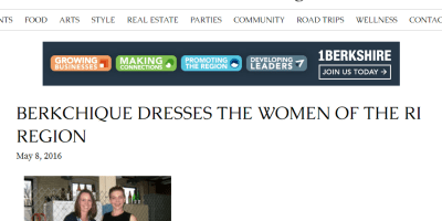 Ruralintelligence.com: BERKCHIQUE DRESSES THE WOMEN OF THE RI REGION