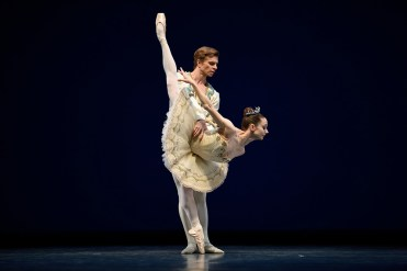 Maria Kochetkova and Gennadi Nedvigin in Balanchine's Theme and Variations. (© Erik Tomasson)