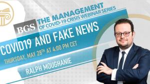 Ralph Moughanie- one of the panelists of Webinar 4 organised by BGS on the management of COVID-19 crisis and Fake News