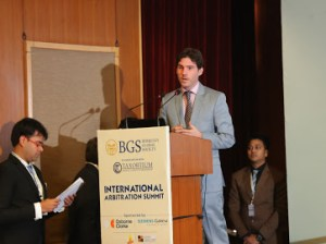 Aubin Gonzalez Chairman of Berkeley Global Society opening speech of International Arbitration Summit - New-Delhi 2019