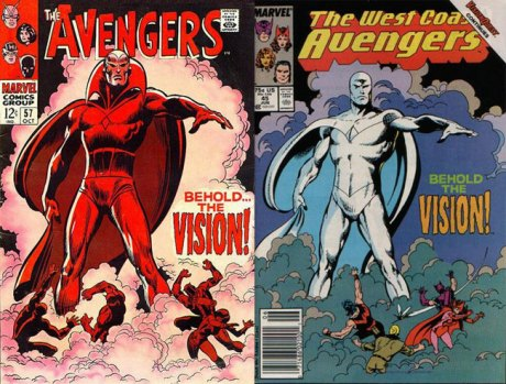 west coast avengers 45 side by side cover