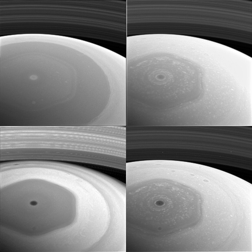 Saturnian Hexagon Collage
